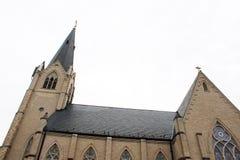 老历史的教会在农村乡下 图库摄影