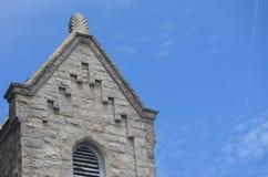 老历史的教会在农村乡下 免版税图库摄影