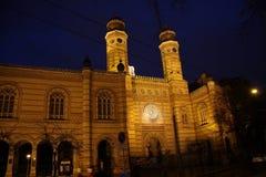 老历史的犹太教堂在布达佩斯 库存图片