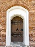 老历史的装饰的门 免版税图库摄影