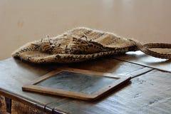 老原始的文字工具, Ramnicu Valcea 2015年4月12日 图库摄影