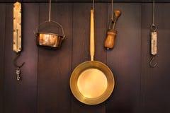 老厨具 免版税库存图片