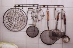 老厨具 免版税库存照片