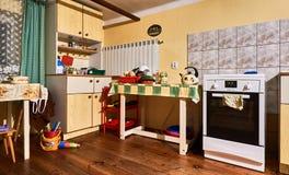 老厨房内部 库存照片