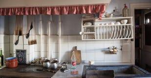 老厨房在莱加斯皮,基普斯夸省,西班牙工人阶级邻里铁谷的 库存照片