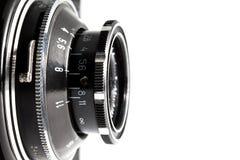 老反光镜照相机特写镜头  免版税库存图片