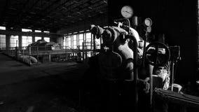 老发电厂 免版税库存照片