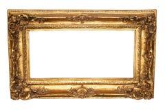 老古色古香的框架金子 库存照片