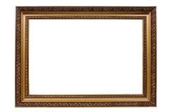 老古色古香的框架金子 免版税库存照片