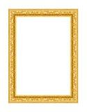 老古色古香的框架金子 免版税图库摄影
