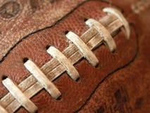 老古色古香的橄榄球 免版税库存照片
