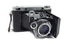 老古色古香的照相机 免版税库存图片