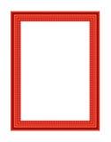 老古色古香的红色框架 库存照片