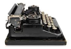 老古色古香的葡萄酒便携式的打字机,有波兰字母表的ke 免版税库存照片