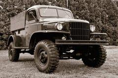 老古色古香的货物美国陆军卡车 免版税库存图片