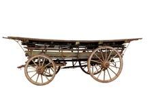 老古董作早期工作在用马拉的无盖货车 免版税库存照片