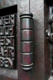 老古铜色铰链 免版税库存图片