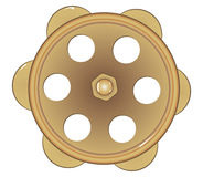 老古铜色水龙头 向量例证