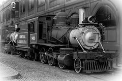 老古巴葡萄酒蒸汽火车 免版税图库摄影