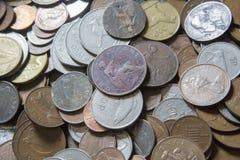 老可收回的硬币 库存图片