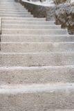 老台阶和地面 免版税库存照片