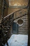 老台阶第比利斯城镇 图库摄影