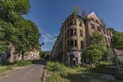 老吉普赛街道Na Nivach在乌斯季nad Labem 免版税图库摄影