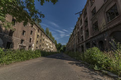 老吉普赛街道Na Nivach在乌斯季nad Labem 图库摄影