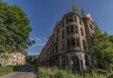 老吉普赛街道Na Nivach在乌斯季nad Labem 免版税库存图片