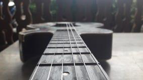 老吉他 库存照片