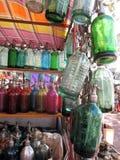 老和五颜六色的虹吸管 免版税库存图片
