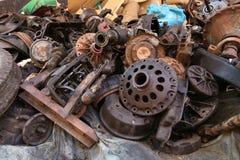 老和使用的机器零件 免版税库存照片