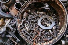 老和使用的机器零件 免版税图库摄影