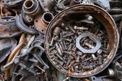 老和使用的机器零件 库存图片