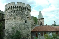 老和古老防御塔 库存图片