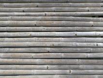 老和干燥竹木背景 免版税图库摄影