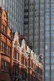 老和新的大厦在伦敦 库存图片
