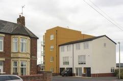 老和新的现代都市风景,英国 免版税库存图片