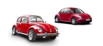 老和新的VW甲虫 免版税库存图片