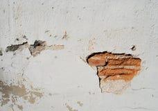 老和残破的在抽象派样式的砖纹理墙壁老大厦 库存照片