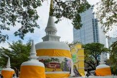 老和现代在每年Lumpini文化节日 库存图片