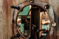 老和生锈的金属 免版税库存照片