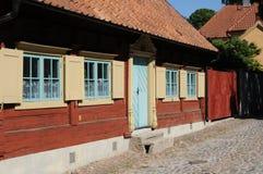 老和美丽如画的城市visby 免版税库存图片