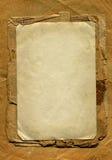 与框架的葡萄酒纸 免版税库存照片