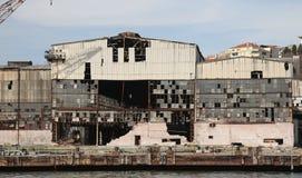 老和被放弃的造船厂 库存图片