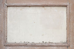 老和被风化的棕色木制框架 免版税库存图片