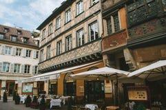 老和豪华restaurnat在法国 免版税库存图片