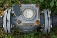 老和铁锈水表 免版税库存照片