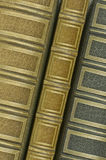 三个旧书边缘 库存图片