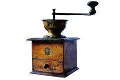 老咖啡铜研磨机 免版税库存图片